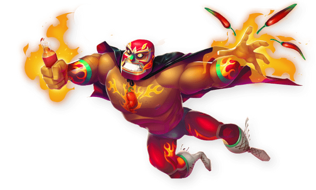 Best Online Slots Illustration from Lucha Maniacs